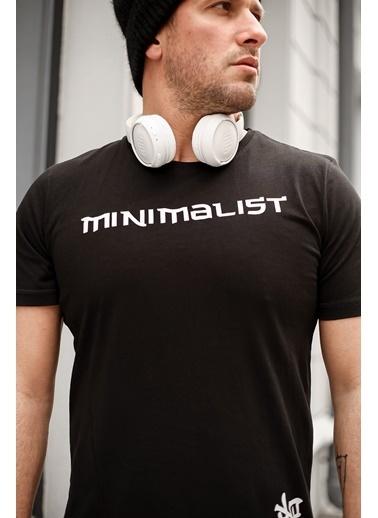 XHAN Siyah Baskılı T-Shirt 1Kxe1-44590-02 Siyah